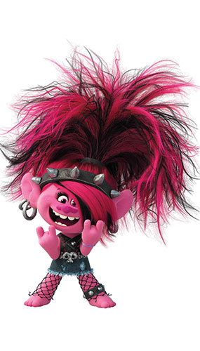 Poppy Punk Trolls World Tour Star Mini Cardboard Cutout 94cm Product Gallery Image