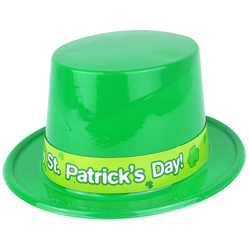 St. Patrick's Day Adult Plastic Topper Hat