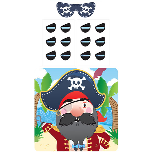 Stick The Eye Patch Pirate Party Game