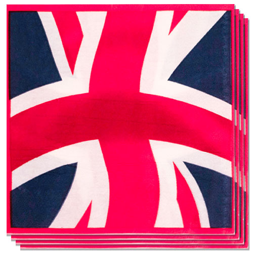 Union Jack Luncheon Napkins 33cm 2Ply - Pack of 20