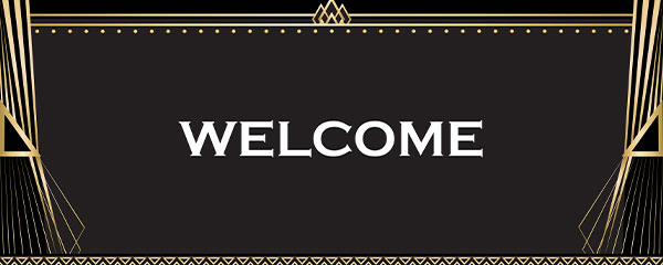 White Welcome PVC Party Sign Decoration 60cm x 25cm
