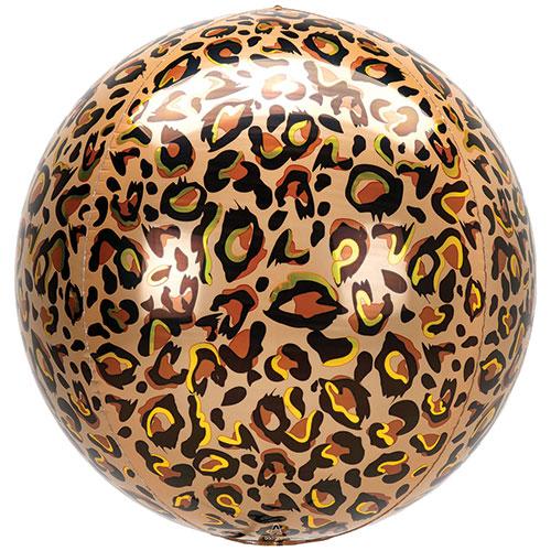 Animalz Leopard Print Orbz Foil Helium Balloon 38cm / 15 in