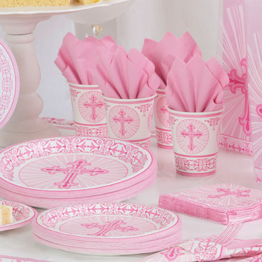 Radiant Cross Pink Party Supplies