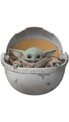 Baby Yoda In Pod The Child The Mandalorian Star Mini Cardboard Cutout 75cm Product Gallery Image