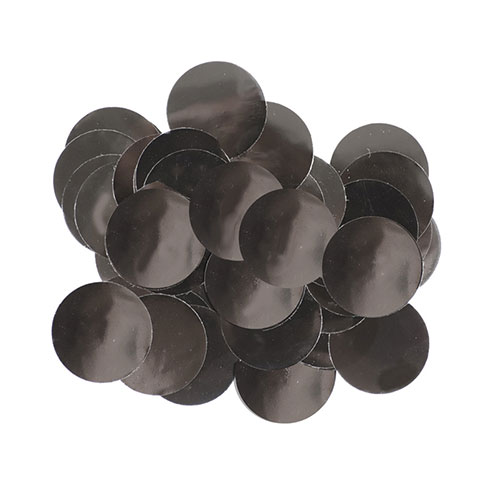 Black 10mm Round Foil Table Confetti 50g