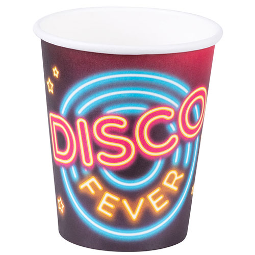 Disco Fever Paper Cups 250ml - Pack of 6