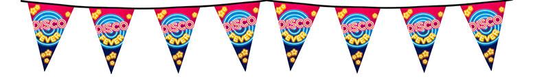 Disco Fever Plastic Pennant Bunting 6m