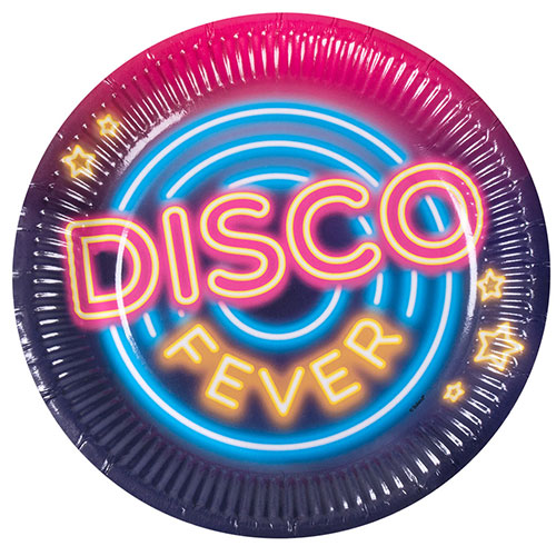 Disco Fever Round Paper Plates 23cm - Pack of 6