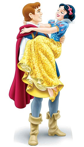 Disney Princess Snow White and The Prince Florian Star Mini Cardboard Cutout 90cm Product Gallery Image