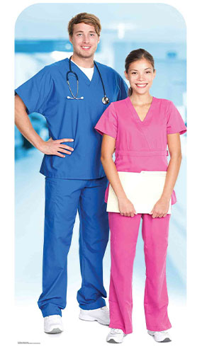 Doctor & Nurse Stand In Lifesize Cardboard Cutout 190cm Product Gallery Image