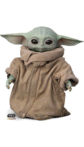 Force-Sensitive Foundling The Child Baby Yoda The Mandalorian Star Mini Cardboard Cutout 89cm Product Gallery Image