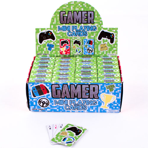 Gamer Mini Playing Cards - 24 Packs