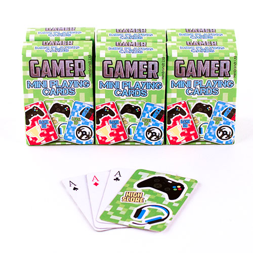 Gamer Mini Playing Cards - 6 Packs