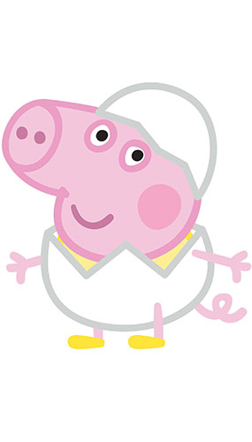 George Pig Egg Easter Star Mini Cardboard Cutout 60cm Product Gallery Image