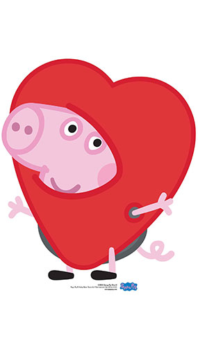 George Pig Heart Star Mini Cardboard Cutout 67cm Product Gallery Image