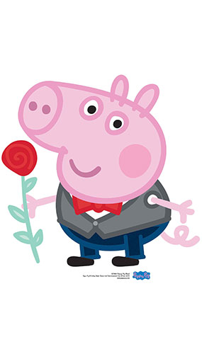 George Pig Rose Star Mini Cardboard Cutout 60cm Product Gallery Image