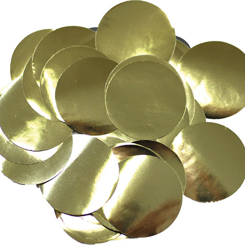 Gold 25mm Giant Round Foil Table Confetti 50g