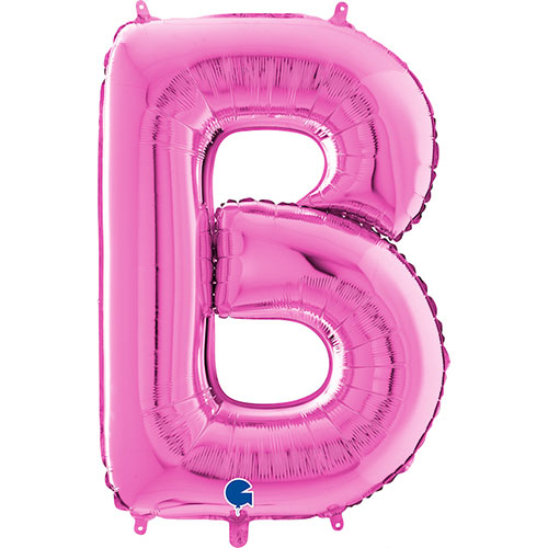 Hot Pink Letter B Helium Foil Giant Balloon 66cm / 26 in