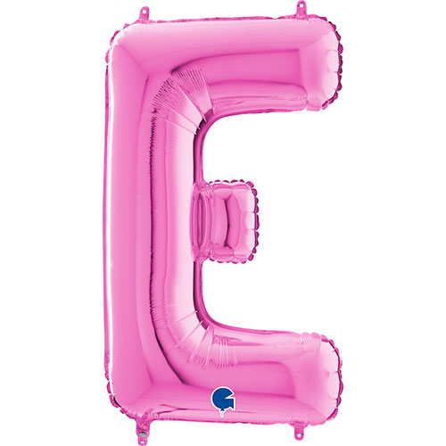 Hot Pink Letter E Helium Foil Giant Balloon 66cm / 26 in