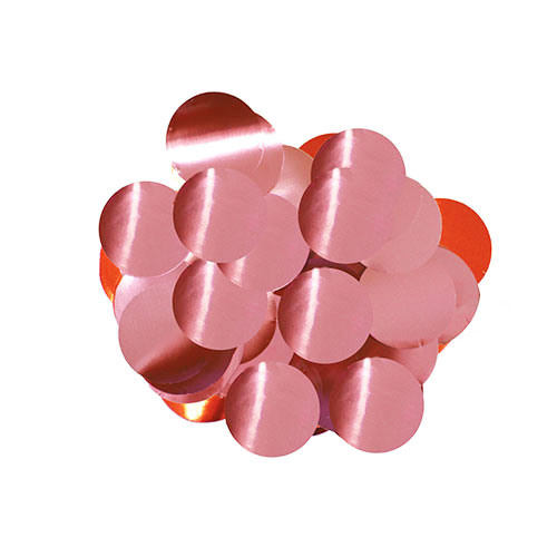 Light Pink 10mm Round Foil Table Confetti 50g