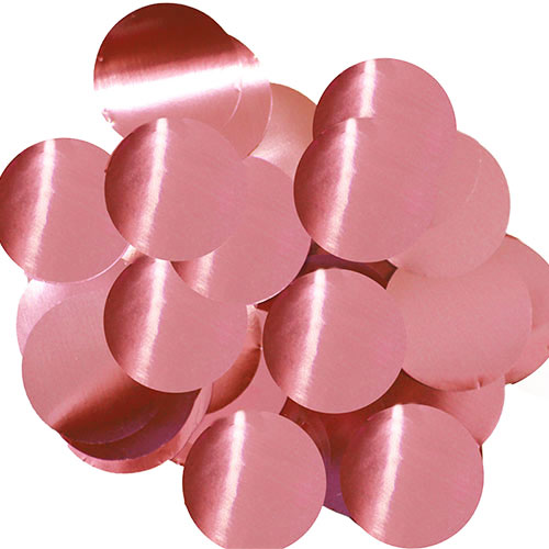 Light Pink 25mm Giant Round Foil Table Confetti 50g