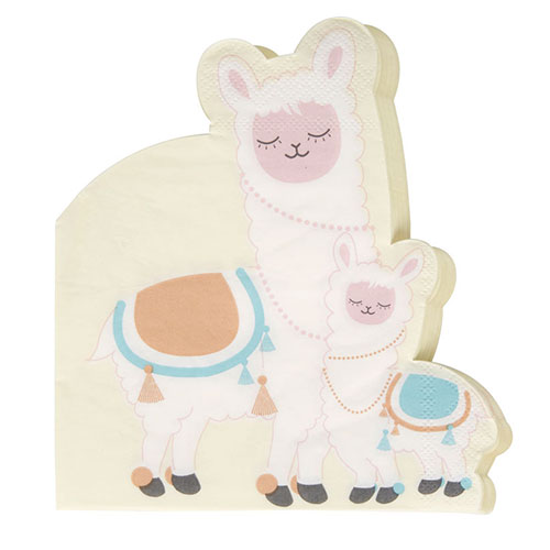 Llama Love Luncheon Napkins 32cm 3Ply - Pack of 16 Product Gallery Image