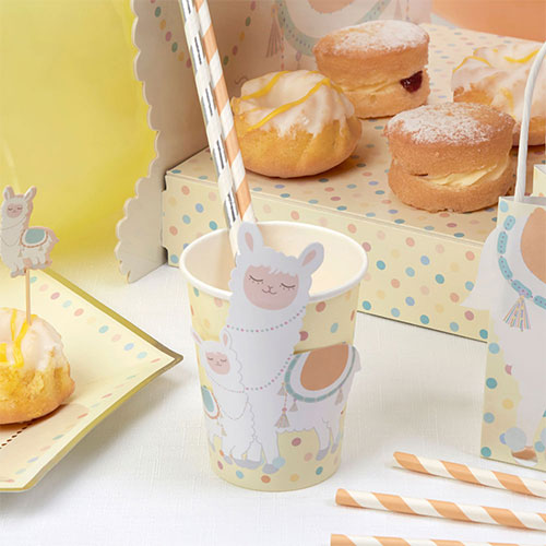 Llama Love Paper Cups 266ml - Pack of 8