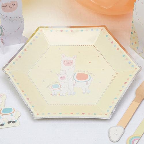 Llama Love Paper Plates 27cm - Pack of 8