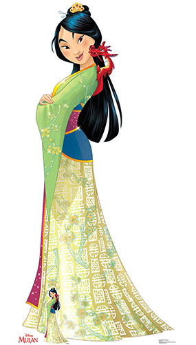 Mulan and Mushu Cartoon Lifesize Cardboard Cutout 177cm Product Gallery Image