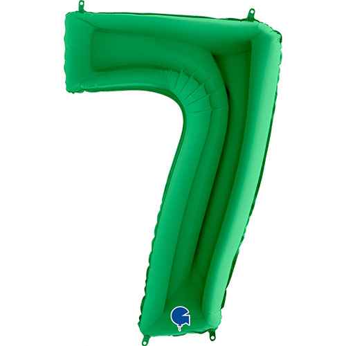 Green Number 7 Helium Foil Giant Balloon 102cm / 40 in