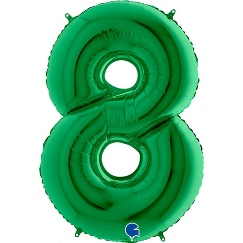 Green Number 8 Helium Foil Giant Balloon 102cm / 40 in