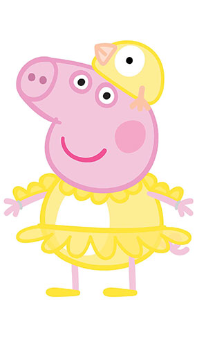 Peppa Pig Chicken Easter Star Mini Cardboard Cutout 82cm Product Gallery Image