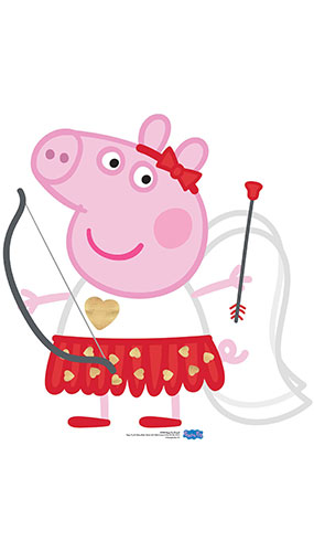 Peppa Pig Cupid Bow & Arrow Star Mini Cardboard Cutout 82cm Product Gallery Image