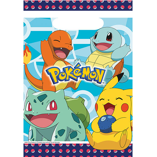 Pokemon Party Loot Bags - Pack of 8