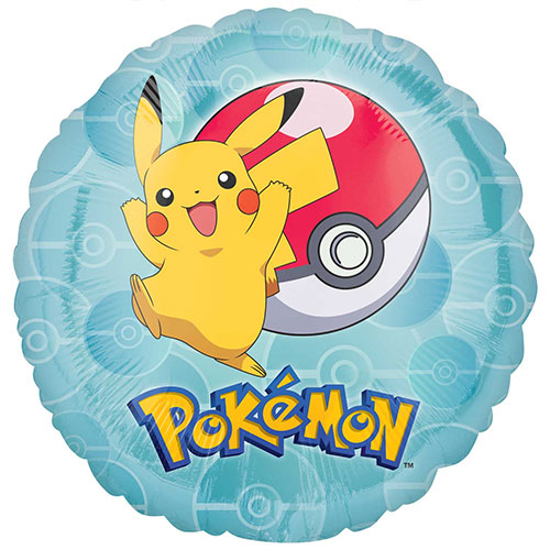 Pokemon Round Foil Helium Balloon 43cm / 17 in