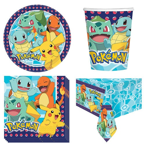 Pokemon Theme 8 Person Value Party Pack