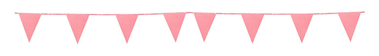 Rose Gold Glitter Cardboard Pennant Bunting 6m