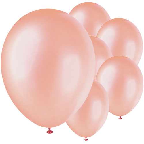 Rose Gold Biodegradable Latex Balloons 30cm / 12Inch - Pack of 8