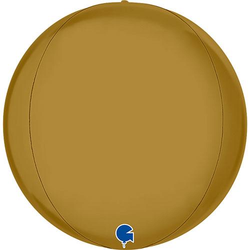 Satin Gold 4D Globe Foil Helium Balloon 29cm / 11 in