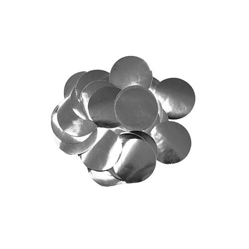 Silver 10mm Round Foil Table Confetti 50g