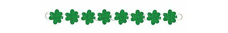 St. Patrick's Day Shamrock Holographic Ring Garland 274cm