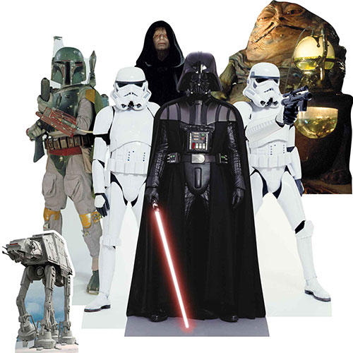 Star Wars Villains Table Top Cutout Decorations - Pack of 7 Gallery Image