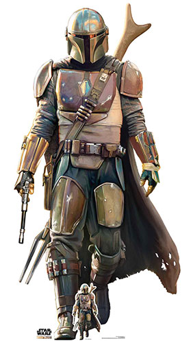 The Mandalorian Lone Gunfighter Lifesize Cardboard Cutout 182cm Product Gallery Image