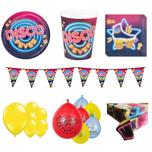 Disco Fever 12 Person Deluxe Party Pack