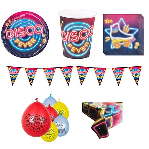 Disco Fever 6 Person Deluxe Party Pack