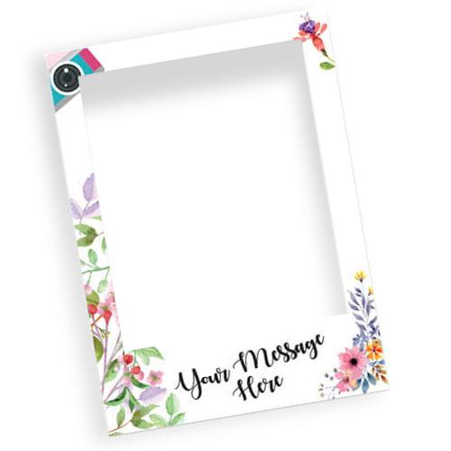 Floral Wedding Personalised Selfie Frame Photo Prop