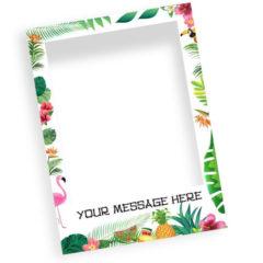 Hawaiian Floral Personalised Selfie Frame Photo Prop