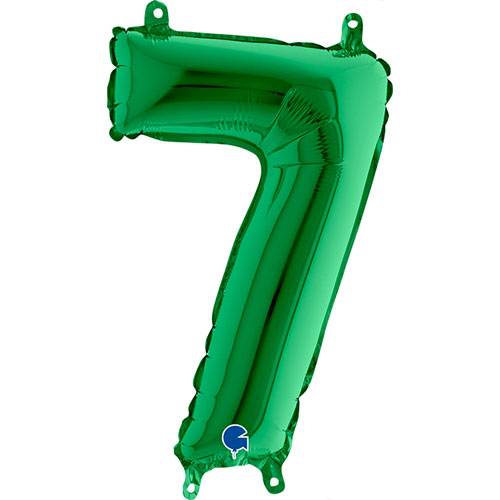 Number 7 Green Air Fill Foil Balloon 35cm / 14 in