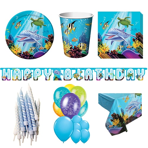 Ocean Theme 16 Person Deluxe Party Pack