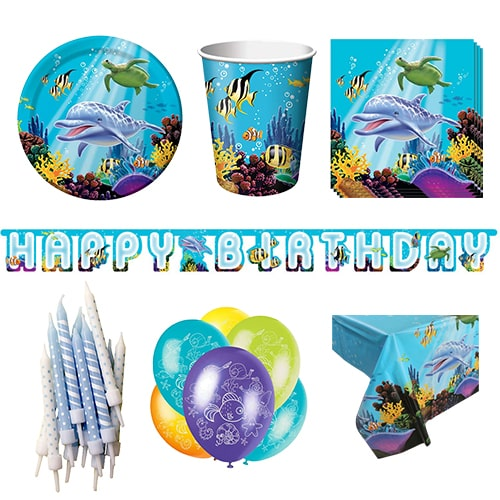 Ocean Theme 8 Person Deluxe Party Pack